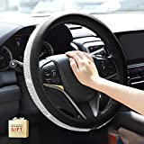 HOUSE DAY Diamond Leather Auto Steering Wheel Cover with Bling Crystal...