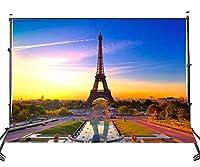 HiYash 7x5ft 風景テーマ写真背景休暇フランスパリエッフェル塔正方形の肖像画ヨーロッパの旅行シーン映画とテレビ撮影スタジオ写真小道具ビニール素材