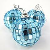 Christmas Concepts Ltd Pack de 12-40mm Espejo Baubles - Bolas de Discoteca - Décorations d'arbre de...