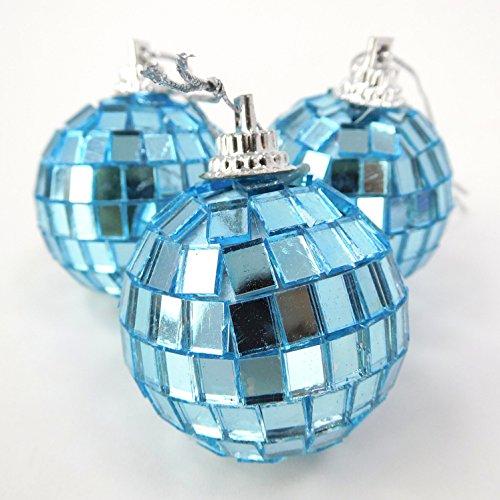 Christmas Concepts® Confezione di Palline da Discoteca a Specchio da 12-40 mm - Decorazioni per Albero di Natale (Turchese)