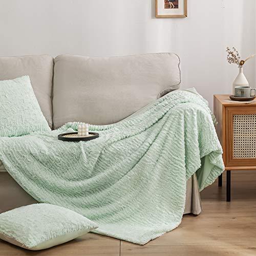 manta verde menta de la marca Simple&Opulence