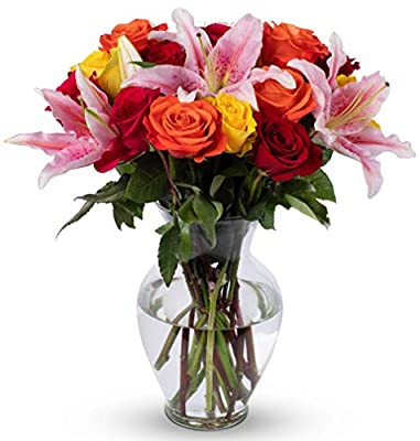 Benchmark Bouquets Big Blooms, With Vase (Fresh Cut Flowers) by Benchmark Bouquets