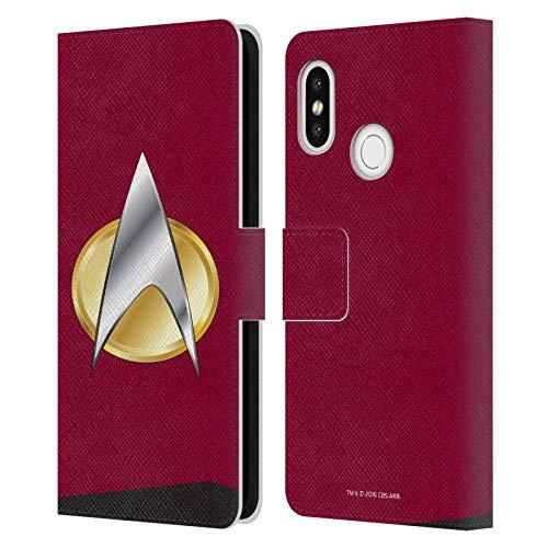 Head Case Designs Licenciado Oficialmente Star Trek Comando Uniformes E Insignias TNG Carcasa de Cuero Tipo Libro Compatible con Xiaomi Mi 8