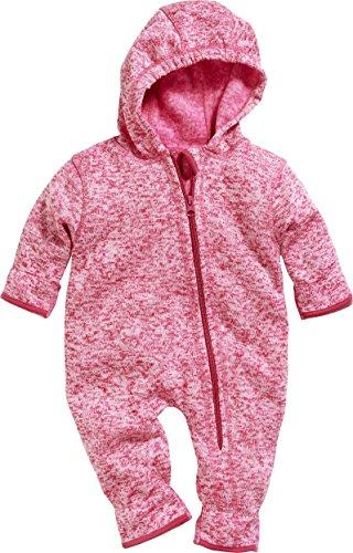 Playshoes Unisex Baby Strickfleece-Overall Schneeanzug, Rosa (Pink 18), 62