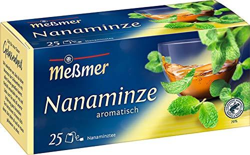 Meßmer Nanaminze 25 Teebeutel Vegan Glutenfrei Laktosefrei, Minze, 43.75 g