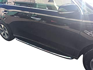 VANGUARD VGSSB-0958-1279AL Black Factory Style Running Boards Factory Style Compatible with 17-19 Acura MDX