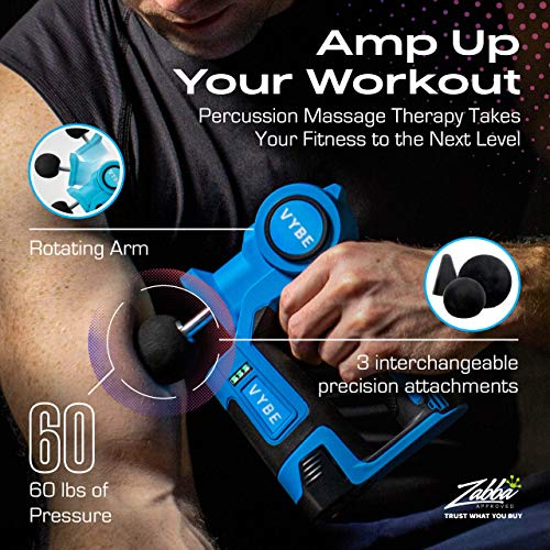 Vybe Percussion Massage Gun - Handheld, Brushless, Cordless, Electric -Deep Tissue Therapy, Body Massager -Muscle Deep Relaxation