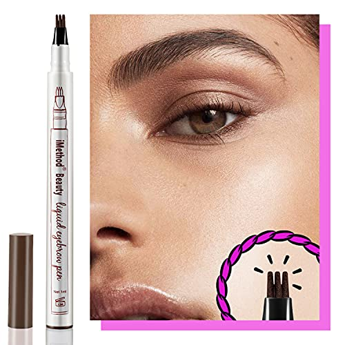 iMethod Eyebrow Pen - Eyebrow TattooPen, Brow Pen, Long Lasting, Waterproof and Smudge-proof, Dark Brown