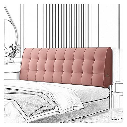 GHHZZQ Cabecero de Cama Tapizado Cojines de Cabecera Suave y Confortable Desmontable Almohada de Lectura Soporte Lumbar, Lavable, 4 Colores, 14 Tamaños (Color : A, Size : 120x60x10cm)