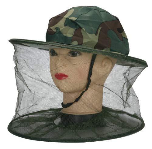 TININNA Camouflage Anti Moustique Bug Insect Fly Masque Chapeau avec tête en Maille Filet Camouflage Insectes Head Net Apiculteur Chapeau