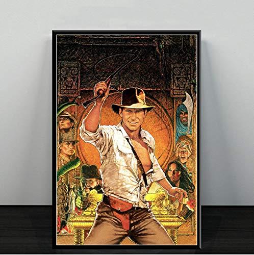 mohanshop Rahmenlose Malerei Indiana Jones Classic Movie Series Kunstplakat Leinwand Malerei Wandbild Wohnkultur Poster Und Drucke 50X70Cm Ohne Rahmen