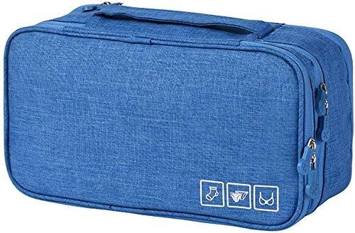kroeus(クロース)ランジェリーポーチ トラベルグッズ 下着収納 撥水加工 出張 海外旅行用品 レディース メンズ 洗面用具 収納ケース ブルー