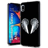 VIBECover Slim Phone Case Compatible for Samsung Galaxy A10E, Light Weight, Unbreakable, Flexible, Surround Edge Protection, Angel Wing