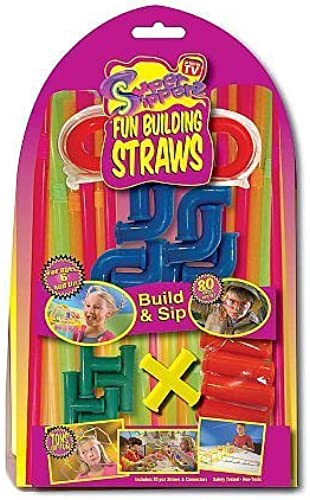 As Seen on TV Super Sipperz Fun Building Straws by SAS Safety