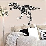 Vinilo Mural impermeable autoadhesivo pegatina de pared creativo dinosaurio fósil silueta muebles para el hogar