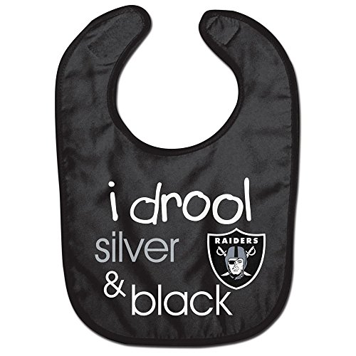 Las Vegas Raiders I drool NFL Baby Feeding Bib Infant Toddler Newborn Shower>