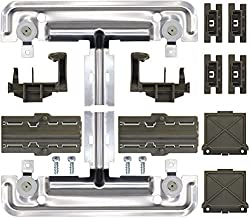 W10712395 Dishwasher Upper Rack Adjuster Replacement Kit for kenmore kitchenaid whirlpool Dishwashers Parts, Replace W10350375 AP5957560, Dishwasher Replacement Top Rack Parts, WDT780SAEM1 WDT750SAHZ0