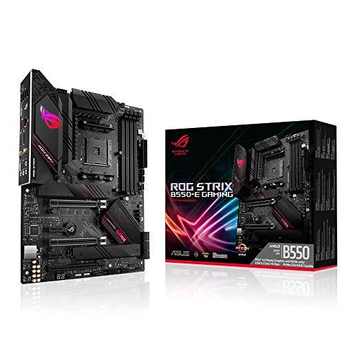 ASUS ROG Strix B550-E Gaming Mainboard Sockel AM4 (ATX, Ryzen, PCIe 4.0, WiFi6, Intel 2,5 Gbit/s-Ethernet, 2x M.2 mit Kühlern, SATA 6Gbit/s, USB 3.2 Gen 2, Aura Sync)