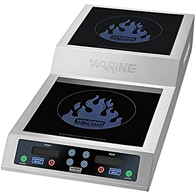 Waring Commercial WIH800 double Induction Range, Silver