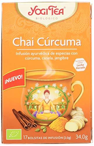 Yogi Tea - Chai Cúrcuma, Infusión Ayurvédica de Especias con