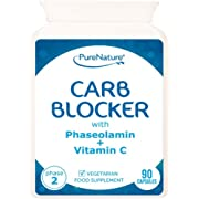 90 Carb Blocker Capsules with White Kidney Bean Extract & Phaseolamin Phase 2 High Strength Carb Controller & Starch Blocker Clinically Proven Active Ingredient to Support Weight Loss Vegetarian & Vegan