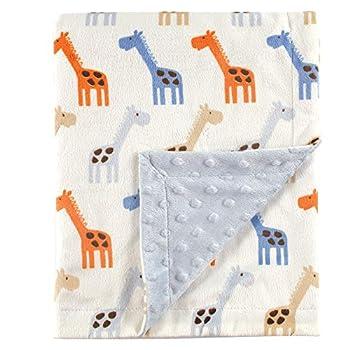 Hudson Baby Unisex Baby Plush Mink Blanket Blue One Size