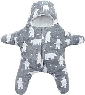 XFentech Baby Sleepsacks - Casual Coral Fleece Jumpsuit 0~6 Months