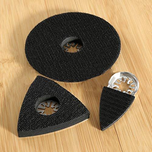 qinggw 3pcs Universal de Lija de ratón Hojas de Sierra oscilante Multi Herramienta eléctrica for Bosch for Worx Dedo Mini+ 80mm+ 150mm Pulido Pads de Arena