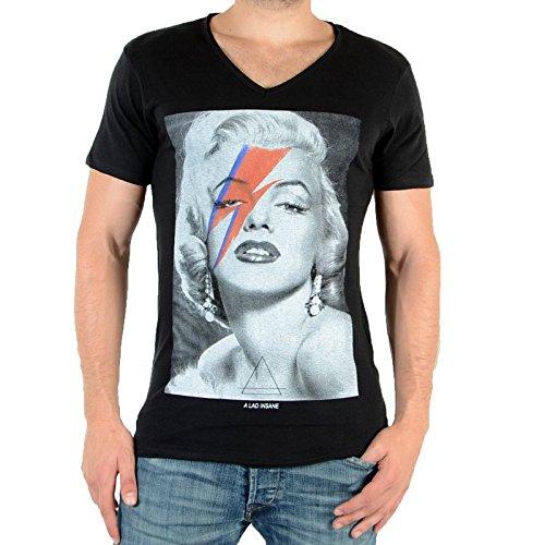 Eleven Paris Monroe M Men T-Shirt, Noir (Black), (Taille Fabricant : XS) Homme