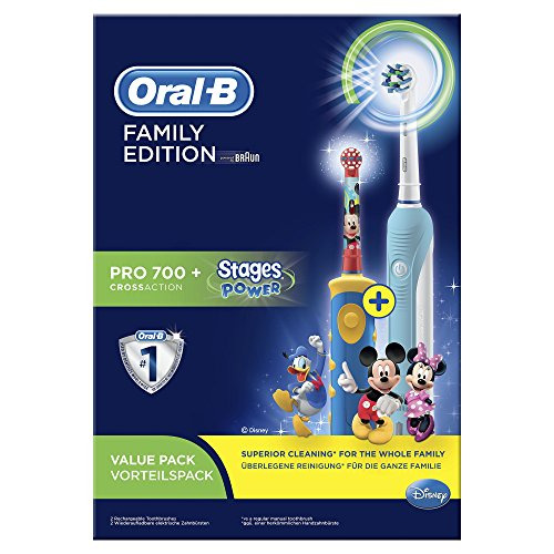 Braun Oral-B Family Edition Mickey Mouse con Oral-B Pro 700+ Stages Power Mickey Mouse