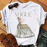 Mujeres Harajuku Camiseta estética Mujer Vogue Estampado topes de Manga Corta &t Ropa de Mujer 90s Fashion Princesa Camisetas Drop ship-P2679-17_XS