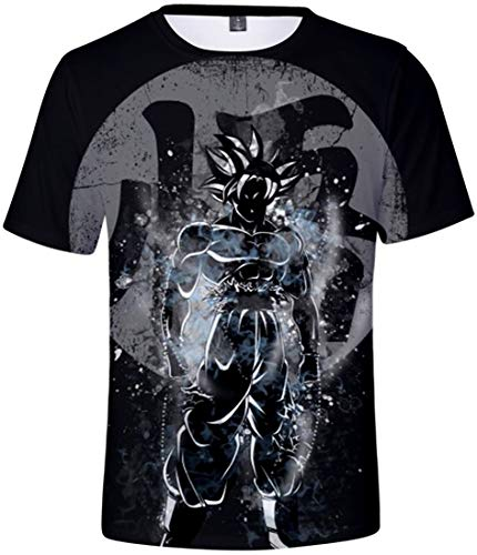 FLYCHEN Herren T-Shirt Dragonball 3D Druck T-Shirt Anime Kurzarm Kakarotto Super Son Goku Cosplay T-Shirt (M (Tag L),Goku821)