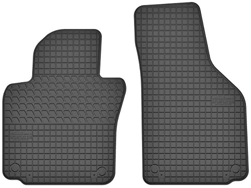 Motohobby Vorne Gummi Fußmatten Satz für VW Volkswagen Golf V/Golf VI/Jetta/Scirocco III/Seat Altea/Toledo III/Skoda Octavia II - 2-teilig