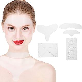 Siliconen huidpleisters, rimpelpleisters in het gezicht Herbruikbare siliconen antirimpel Oog Voorhoofd Nek Borstkussens S...