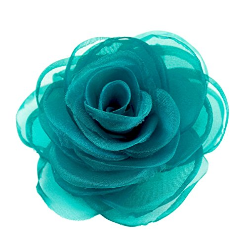 Merida fermaglio per capelli da donna, rosa di seta, base metal, colore: verde, cod. XOTW05C8