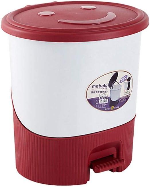 XDYNJYNL Shatter-Resistant Waste Bin Pedal G Trash Oval shopping Luxury Type
