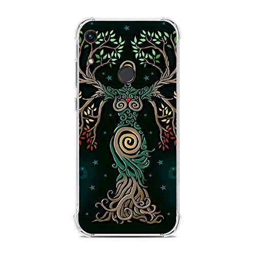 QNNN Transparent Silicone TPU Shockproof Clear Case Compatible with Huawei Y6 2019-Kiss Gustav-Klimt Art 2