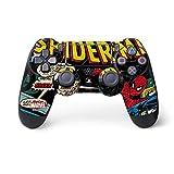 Skinit Decal Gaming Skin for PS4 Pro/Slim Controller - Officially Licensed Marvel/Disney Marvel Comics Spiderman Design