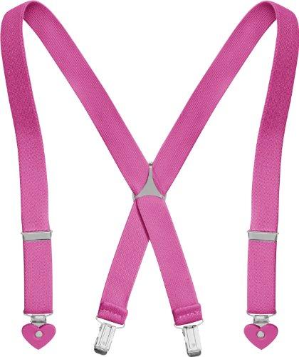 Playshoes Mädchen Herz Hosenträger, Pink (pink), 60 cm