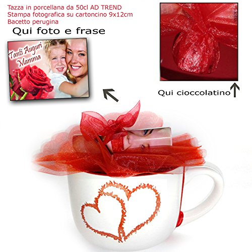 Leuk cadeau voor Moederdag met spreuk en foto's + chocolade