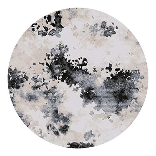 JCOCO Style Ancien Style Chinois Forme Ronde Peinture à l'encre Tapis Anti-dérapant Anti-Fading Salon Chambre Chambre Tapis Ordinateur Chaise Coussin (Couleur : #5, Taille : 120 * 120cm)