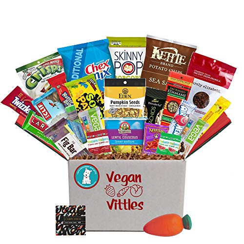 Vegan Care Package for College Student Birthday or at Final Exam Time, Military Troops, Office Meetings or Anyone who wants to eat Healthier.