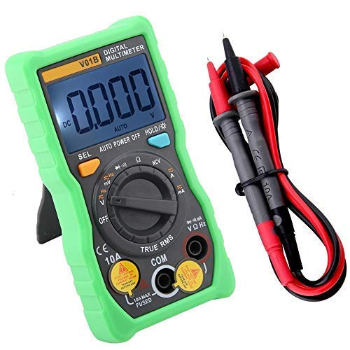 YIONGA CAIJINJIN multimetro ANENG V01B Auto-Ranging True-RMS multimetro Digitale, Portatile AC DC Meter con Smart NCV 4000 Conti (Verde)