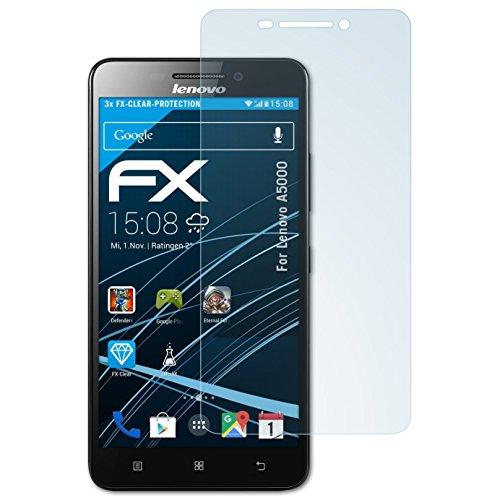 atFolix Schutzfolie kompatibel mit Lenovo A5000 Folie, ultraklare FX Bildschirmschutzfolie (3X)