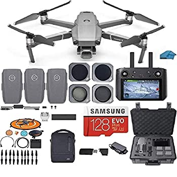 DJI Mavic 2 PRO Drone Quadcopter Fly More Combo with Hasselblad Camera with Smart Controller 3 Batteries Case ND CPL Lens Filters 128GB SD Card Bundle Kit with Must Have Accessories