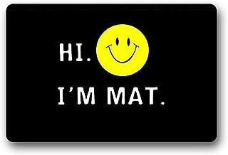 Custom Hi I'm Mat Door/Outdoor Decor Rug Indoor/Outdoor Doormat RugsFloor Mat Top Fabric & Non-Slip Rubber Backing Entrywa...