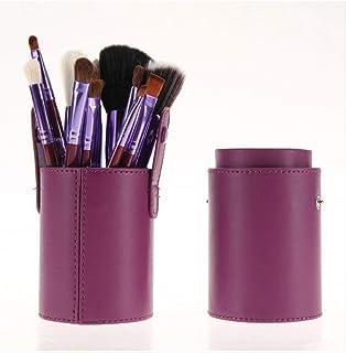 Makeup Brush 12 Piece Makeup Set Eye Shadow Blush Foundation Wool Bucket Brush L-09 Purple Detazhi