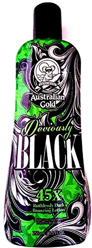 Lotions Hot New Australian Gold Deviously Black 45x Dark Bronzer Indoor Tanning Bed Lotion