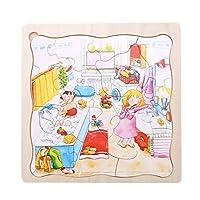 PINKING パズル 木のおもちゃ セット 人気 おもちゃ 室内玩具 誕生日 贈り物 知育玩具 子供 部屋