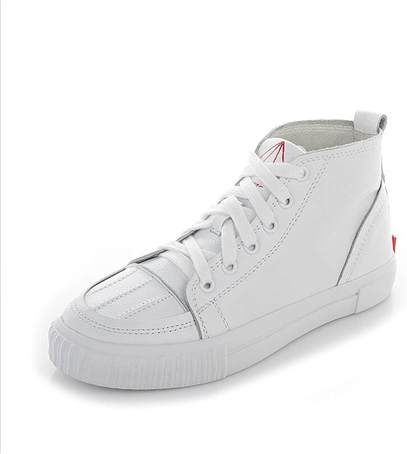 Jiang Women's shoes New Hollow Flat High-top Deck shoes,Breathable Academy Canvas shoes,Spring Fall Small White shoes Sneakers